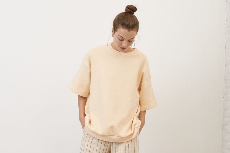 can pep rey oversized sweatshirt melon