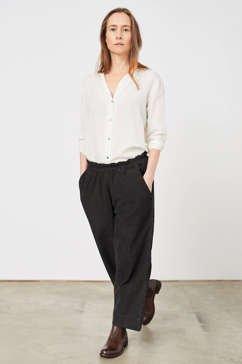 aiayu corduroy straight pants soil