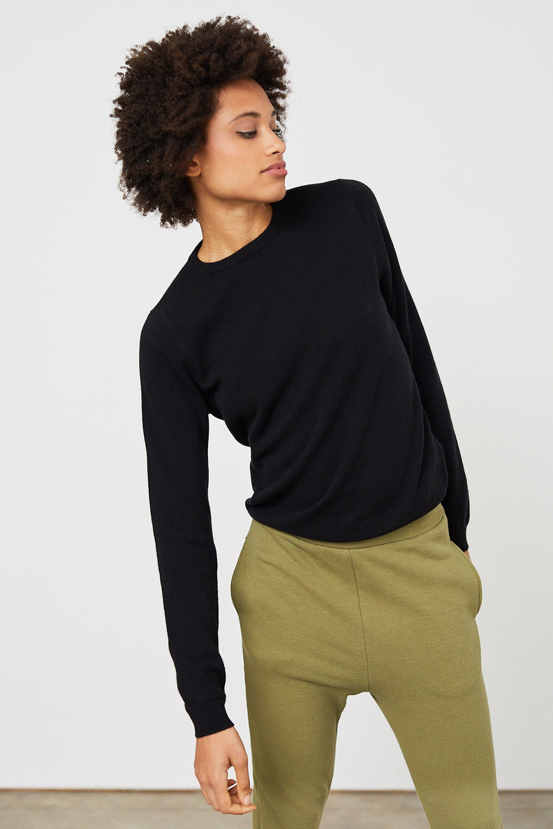 people's republic of cashmere roundneck black
