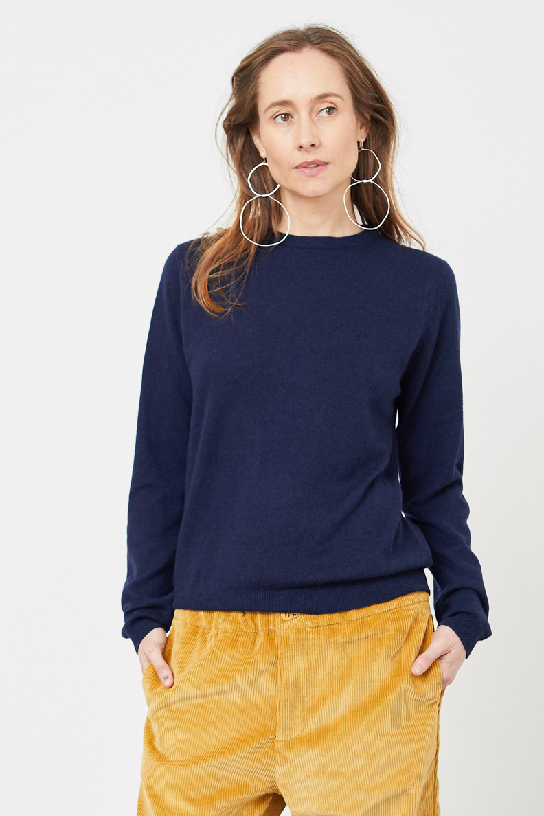 people's republic of cashmere roundneck navy