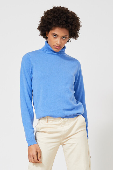 people's republic of cashmere turtleneck blue