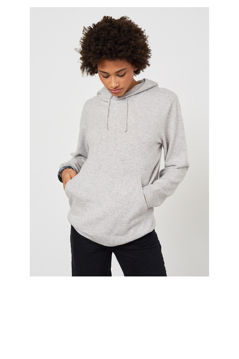 people's republic of cashmere hoodie grey
