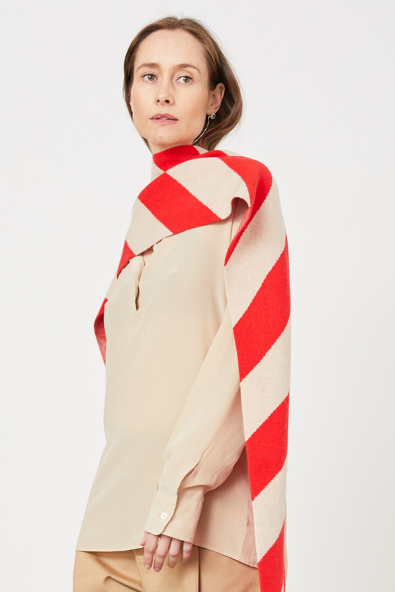 jo gordon large stripe scarf