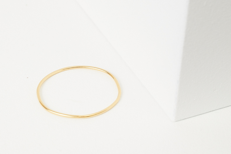 martine viergever handcrafted bangle gold