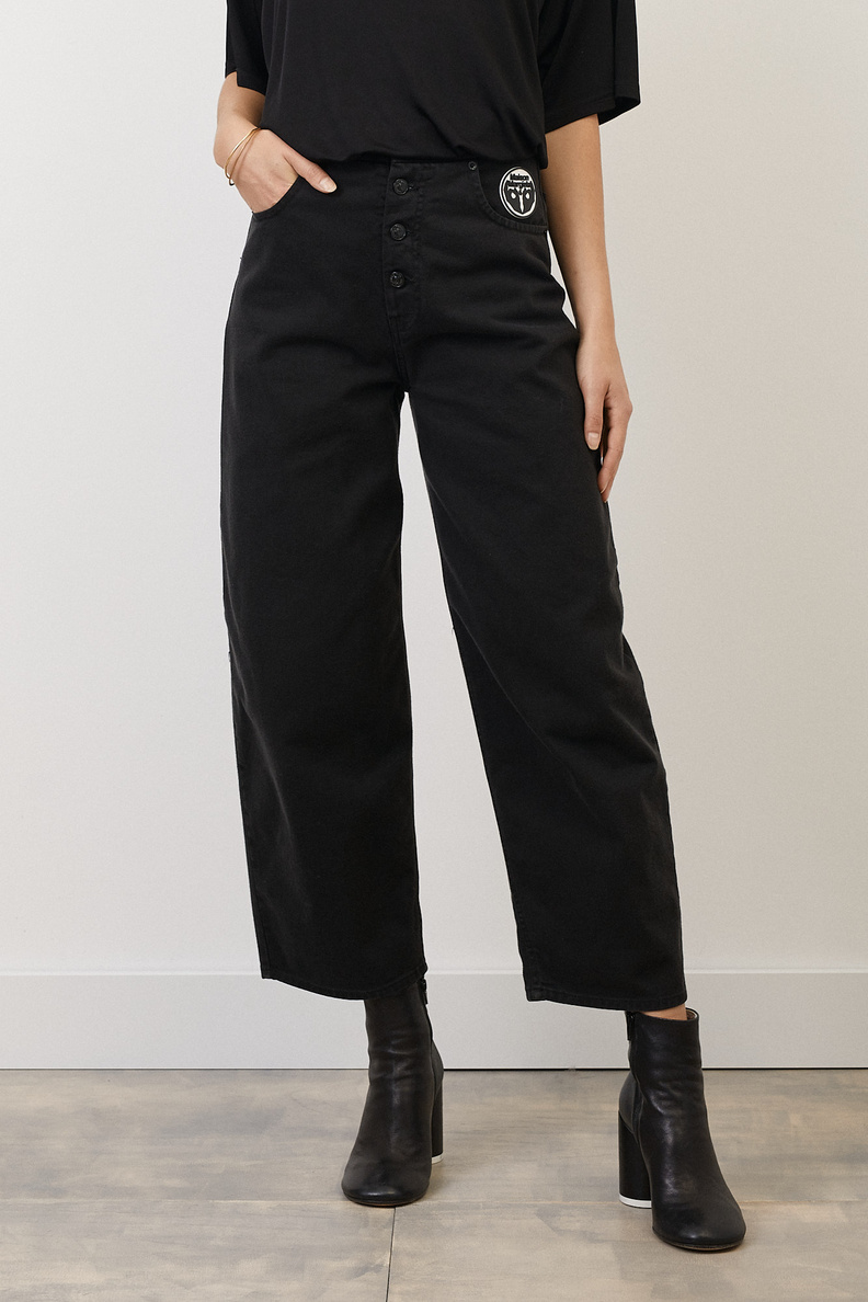 maison margiela mm6 pants 5 pocket black