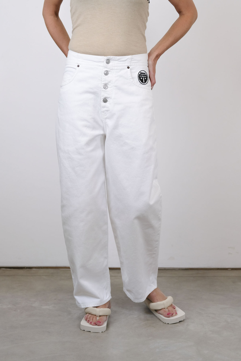 maison margiela mm6 s52la0119 pants 5 pocket off white
