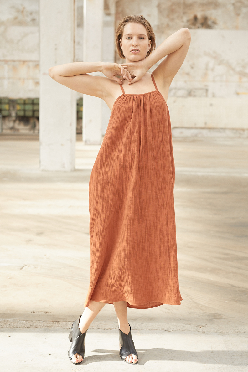 ssaar summer dress rust
