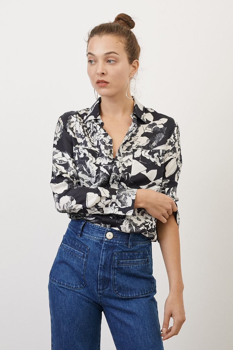 bananatime easy shirt youth bloom black