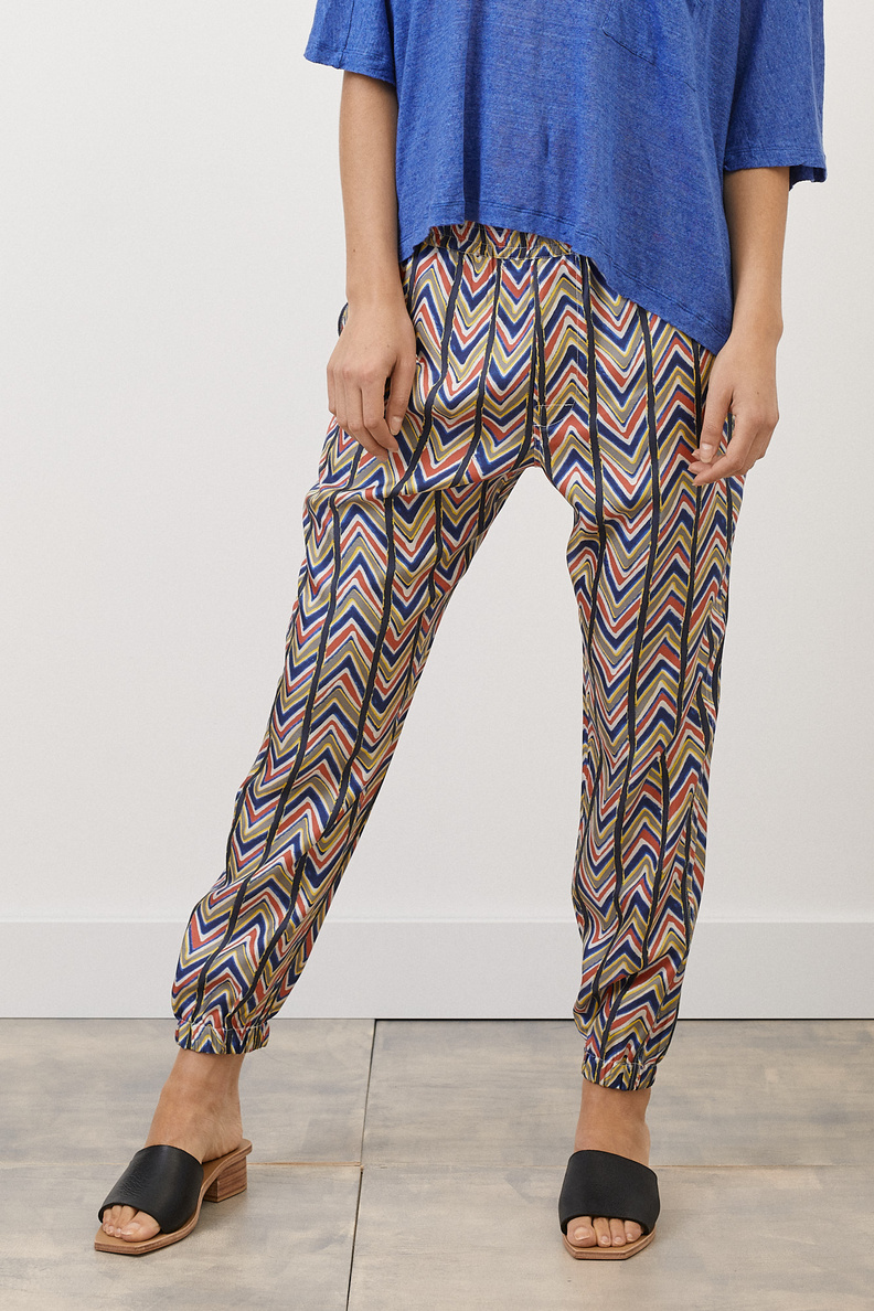 bananatime jogging pant chevron safari pink