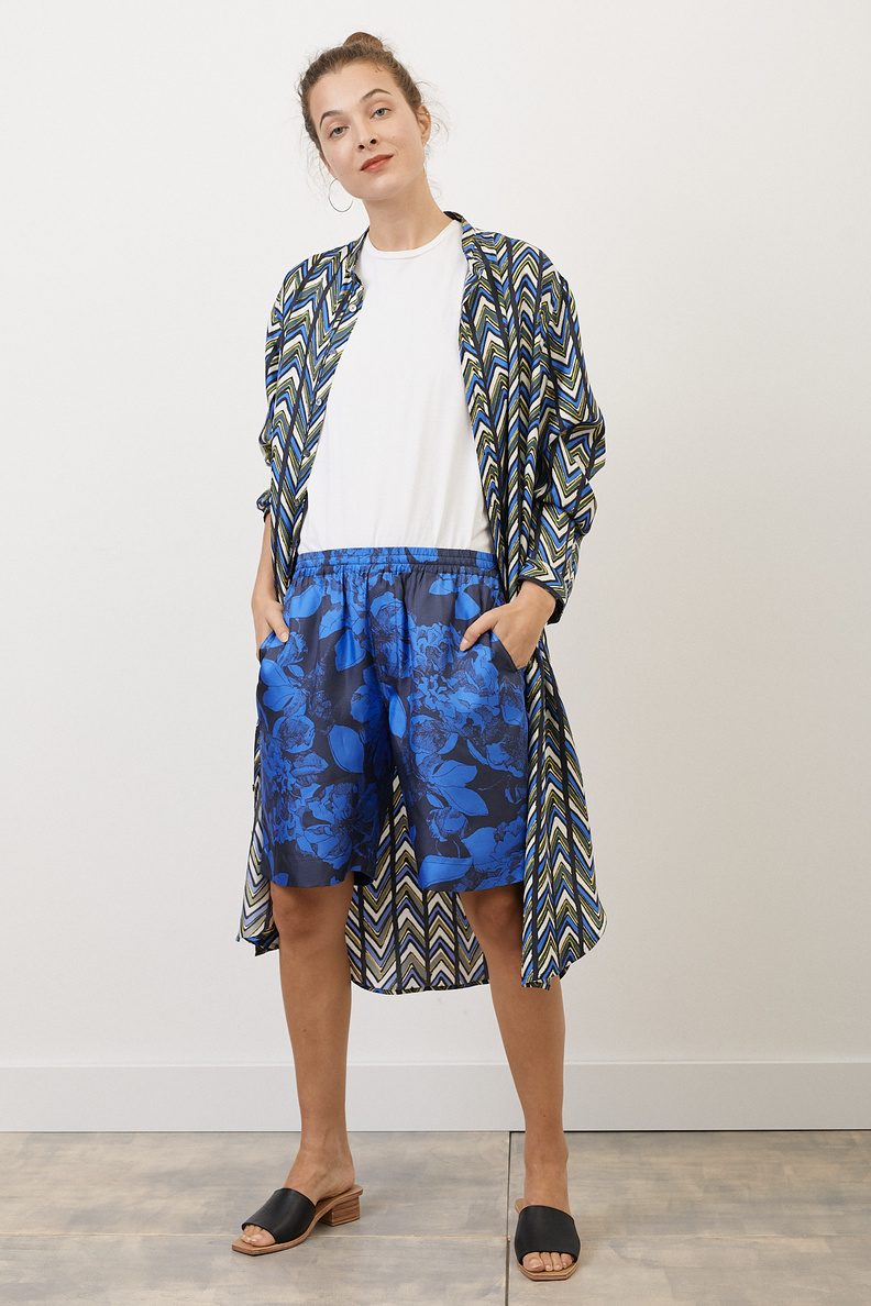 bananatime relaxed short youth bloom blue