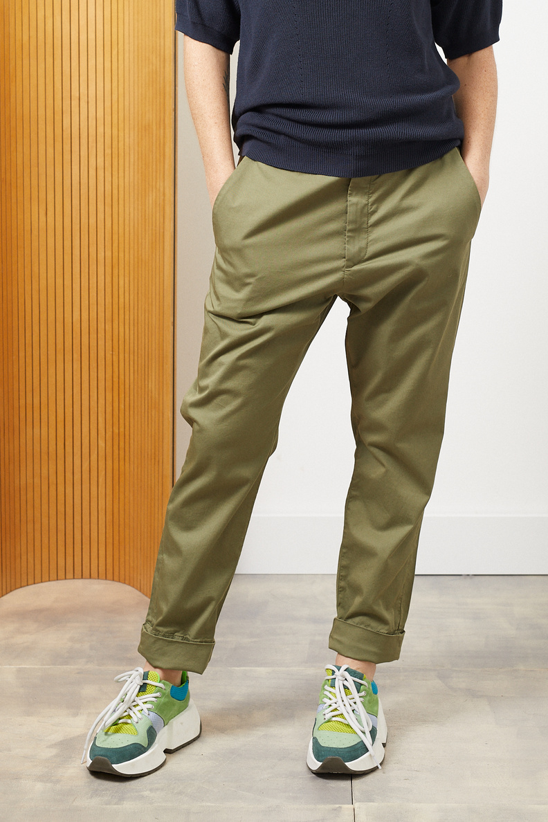 hope news trousers khaki green