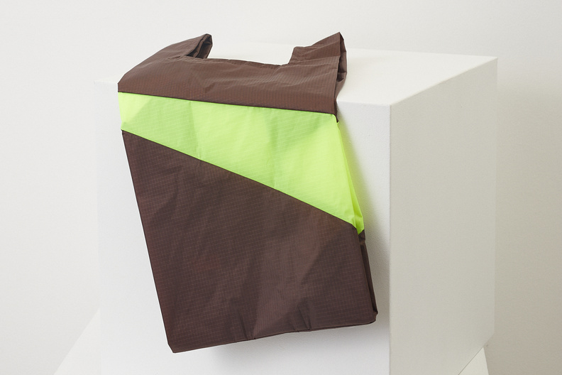susan bijl shoppingbag brown fluo yellow m