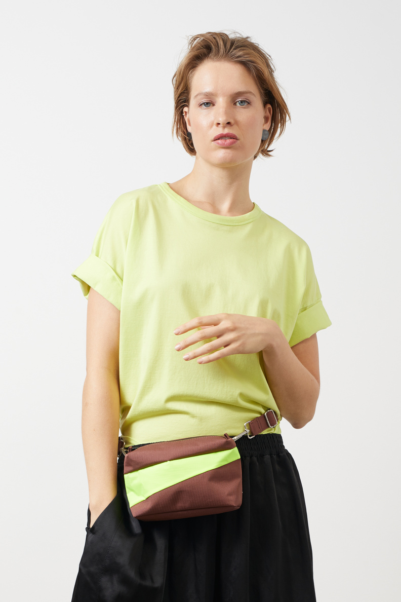 susan bijl bum bag brown fluo yellow s