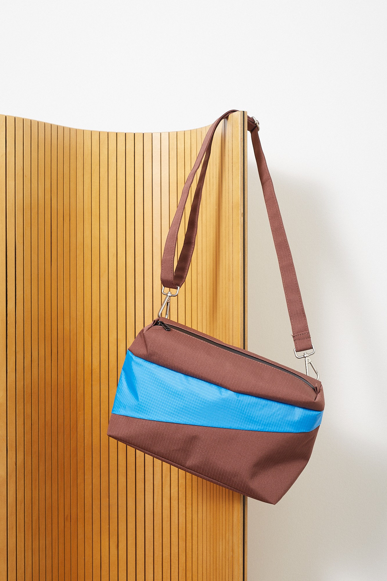 susan bijl bum bag brown sky blue m