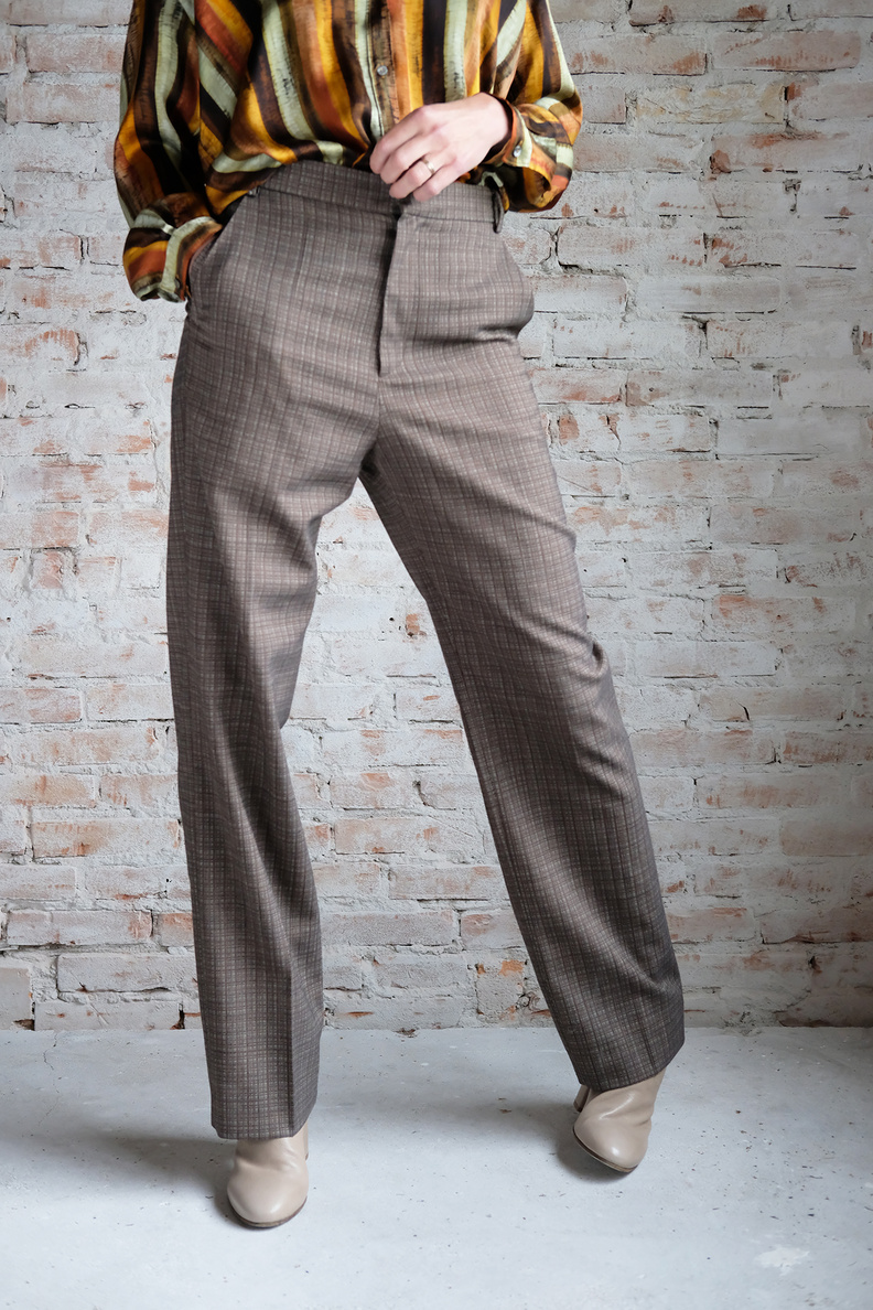 hope keen trouser brown melange