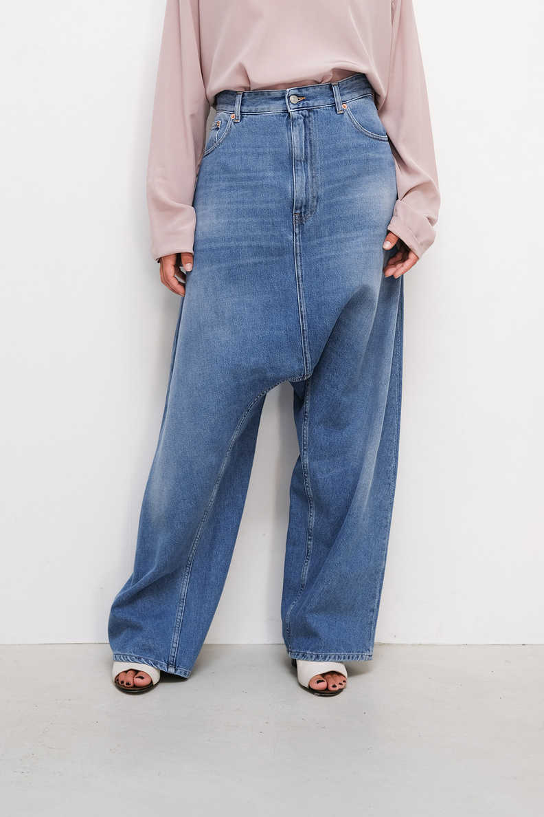 maison margiela mm6 s52la0134 pants 5 pockets wide leg