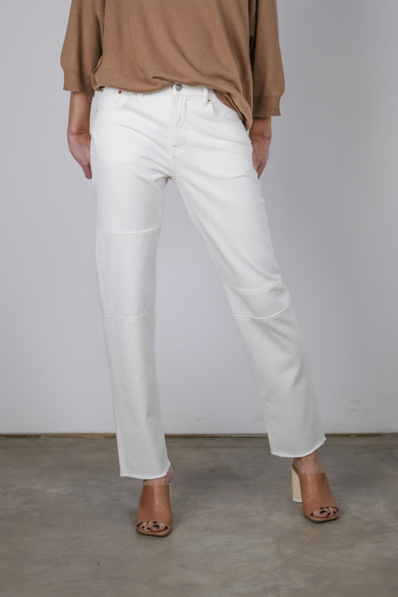 maison margiela mm6 s62lb0051 pants 5 pocket white