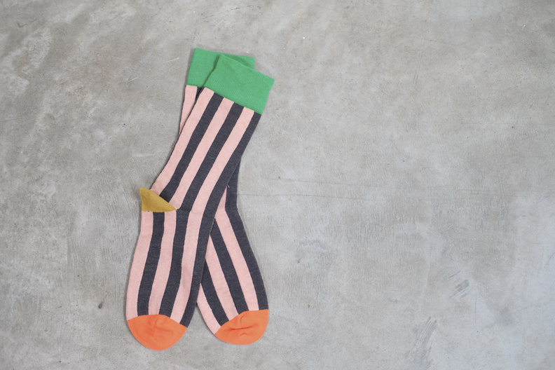 jo gordon vertical stripe socks