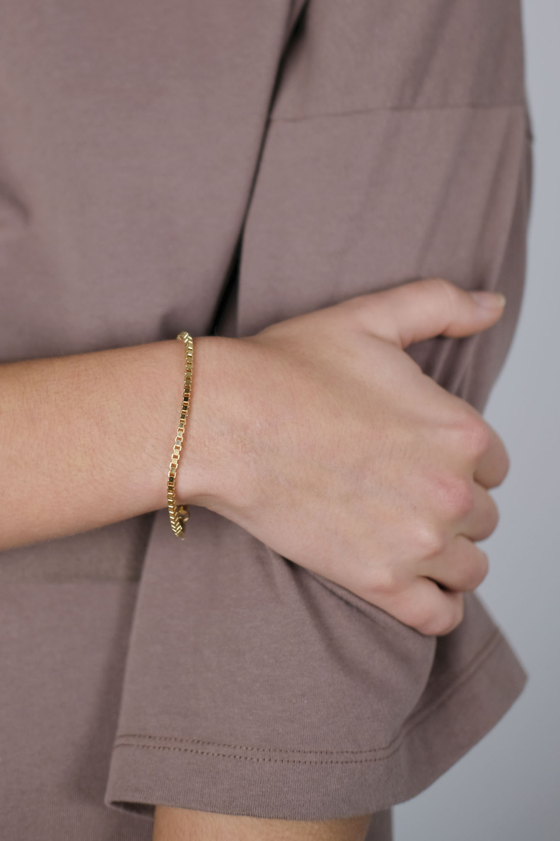 martine viergever venetian bracelet thick gold