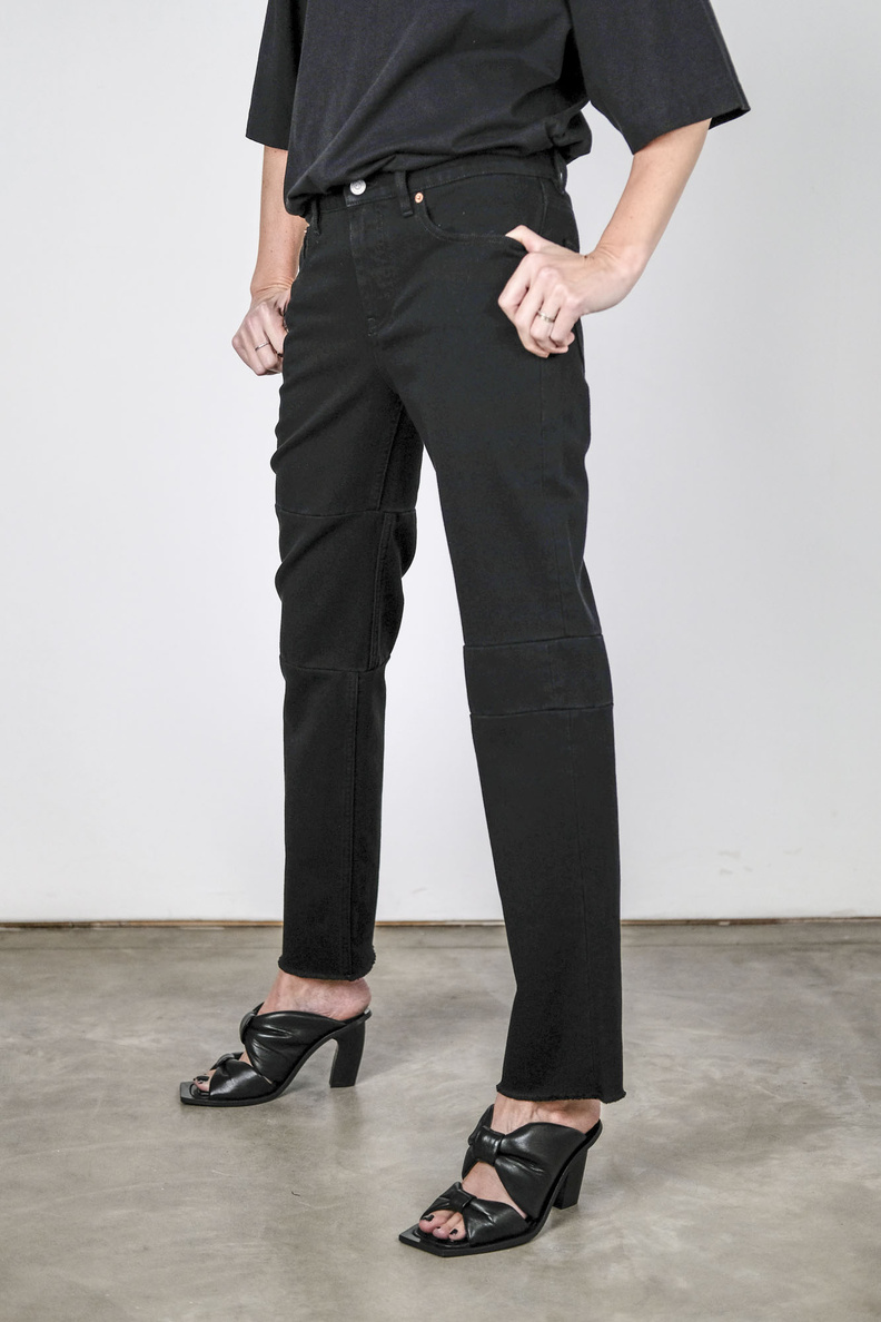 maison margiela mm6 s62lb0051 trousers 5-pocket black