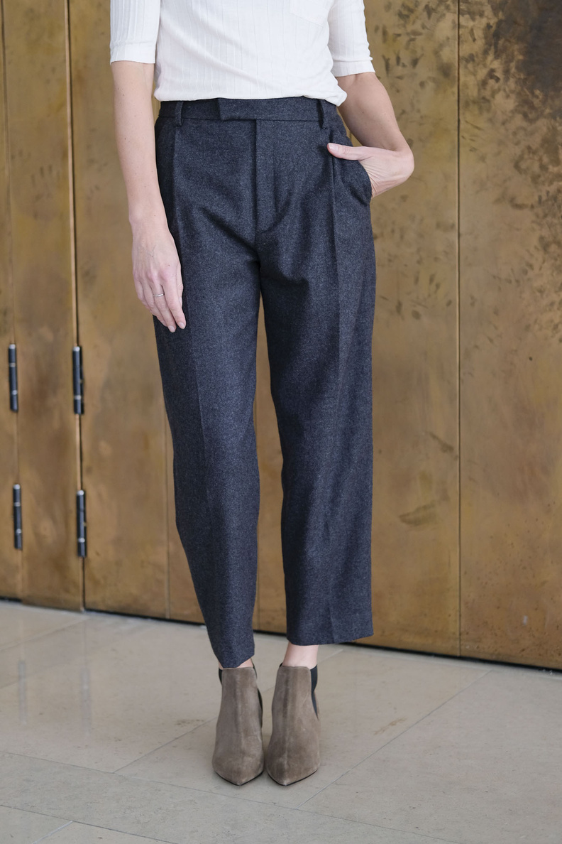 hope alta trousers grey melange