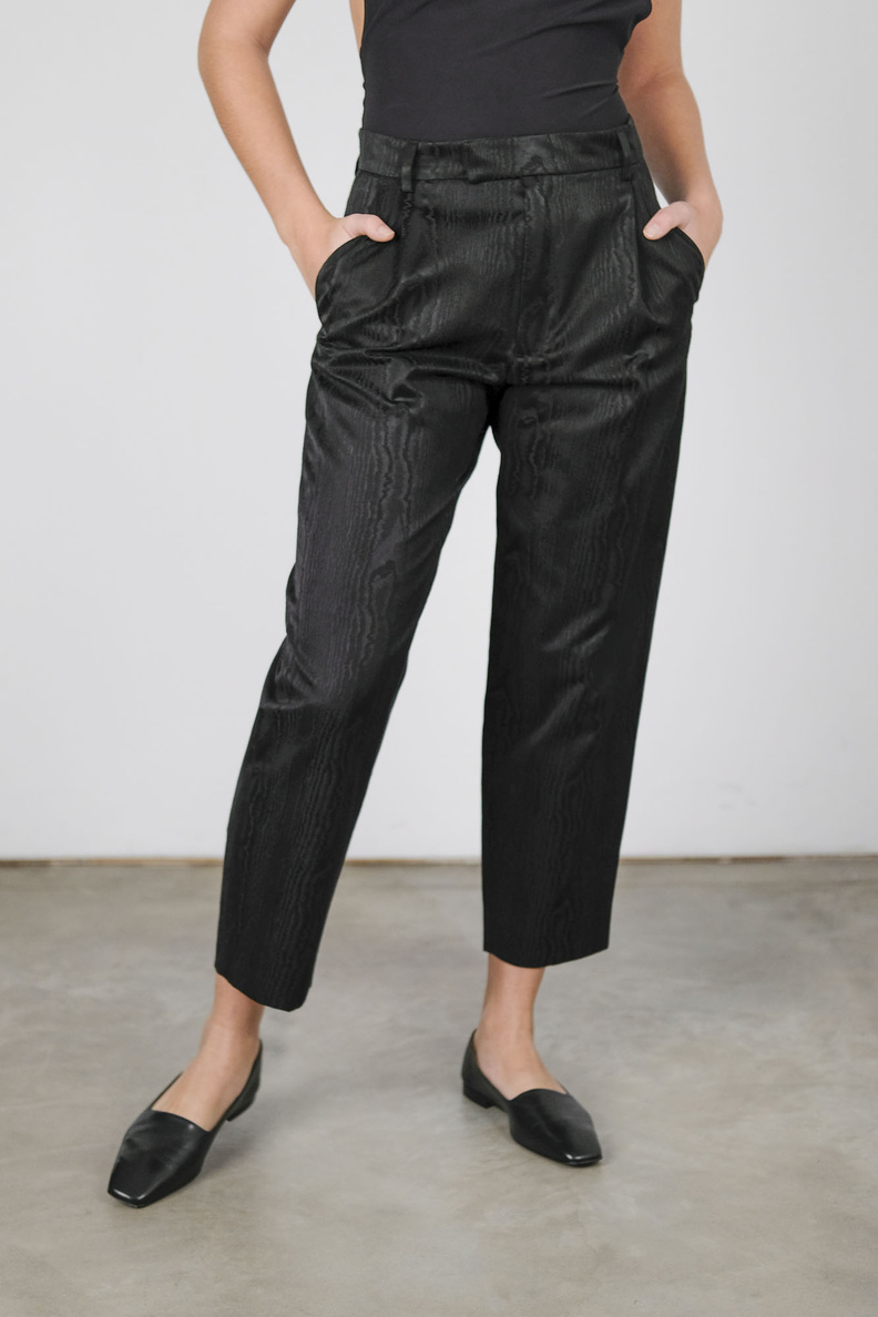 hope alta trousers black moire