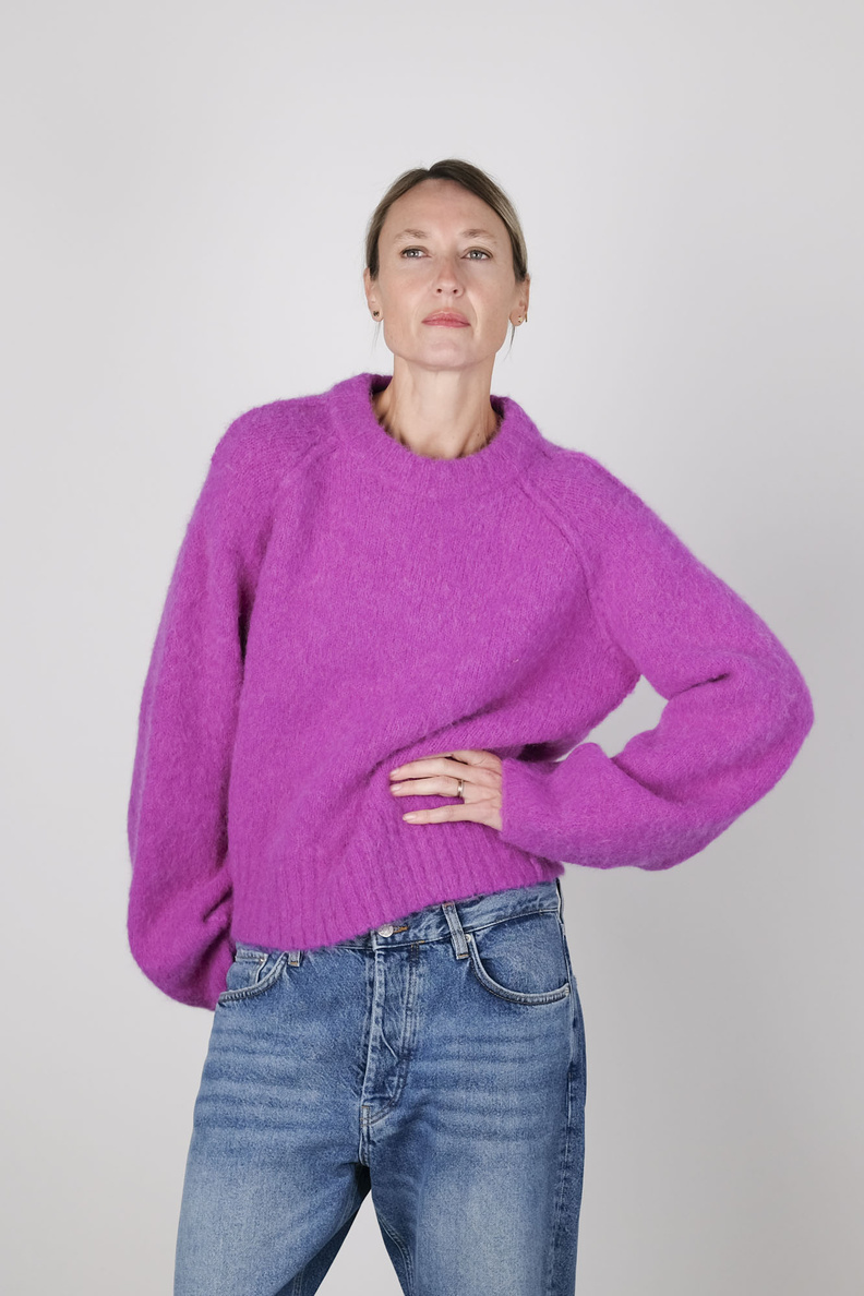 rodebjer francisca sweater magenta