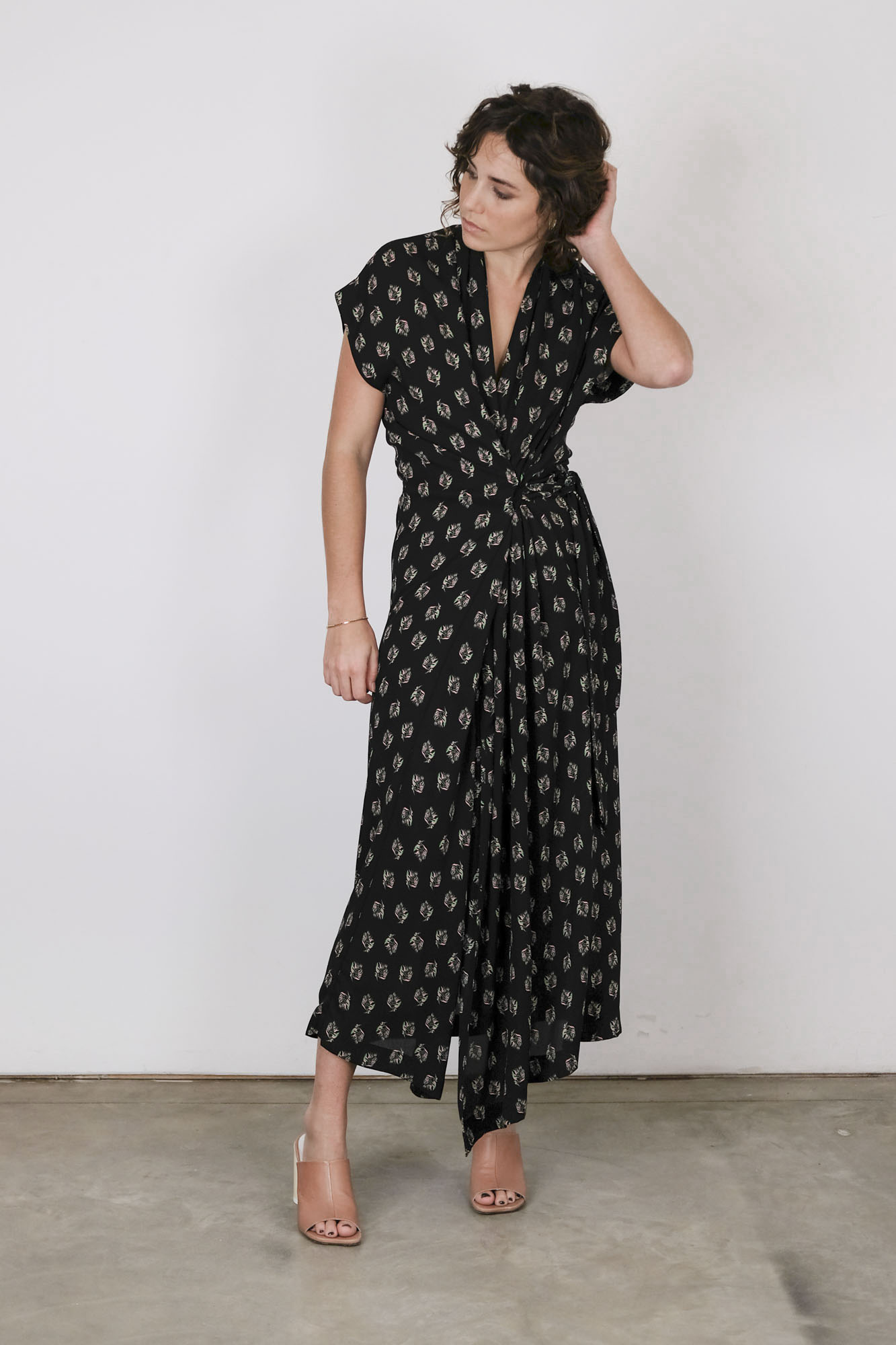 rodebjer olympia dress black print