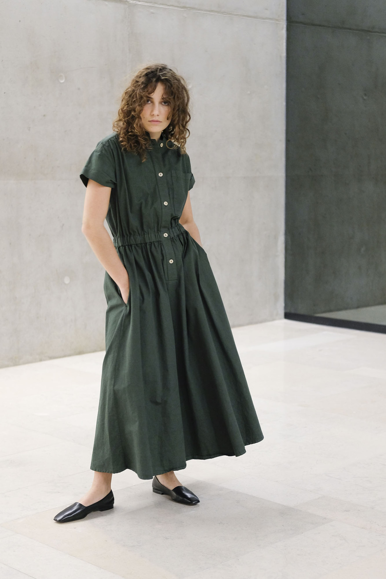 girls of dust w-service dress forest green